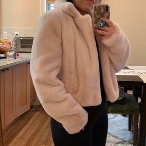 Jackets & Blazers - Plush pink faux fur short jacket